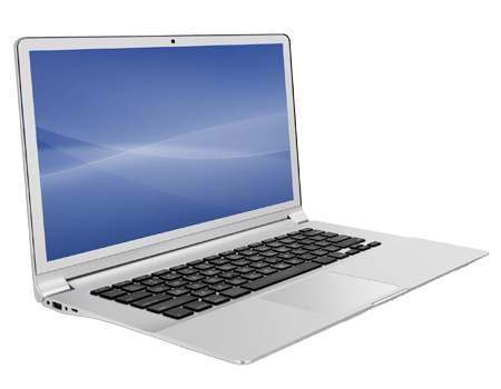 Photograph of notebook PC