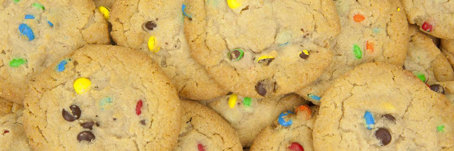 Photograph of Smarties cookies